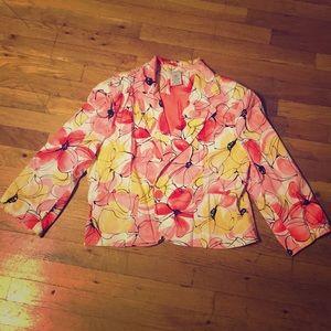 Floral Cropped Spring Blazer